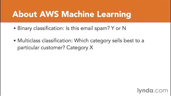 Introducing AWS Machine Learning: Amazon Web Services Data Services