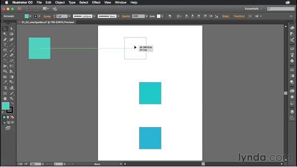 Using Smart Guides: Illustrator CC Power Shortcuts