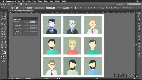 Using the Magic Wand: Illustrator CC Power Shortcuts