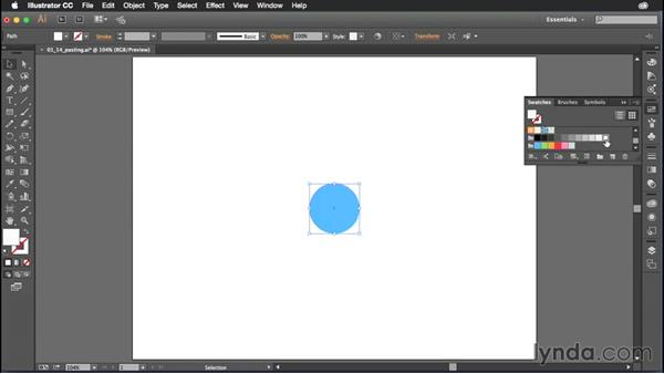 Pasting in front and behind: Illustrator CC Power Shortcuts
