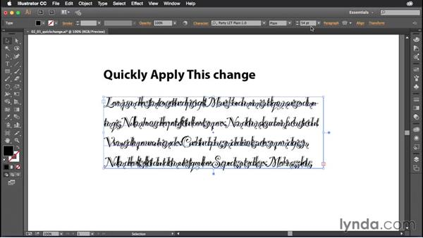 Resetting your type: Illustrator CC Power Shortcuts