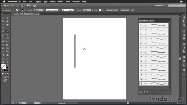 Changing brush size on the fly: Illustrator CC Power Shortcuts