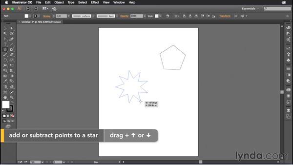 Modifying shapes as you draw them: Illustrator CC Power Shortcuts
