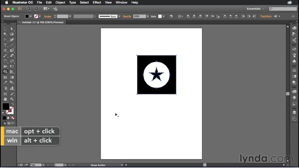 Joining shapes with the Shape Builder tool: Illustrator CC Power Shortcuts