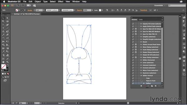 Creating and using actions in Illustrator: Illustrator CC Power Shortcuts