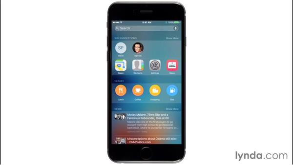 Working with Proactive suggestions and search options: iOS 9 New Features