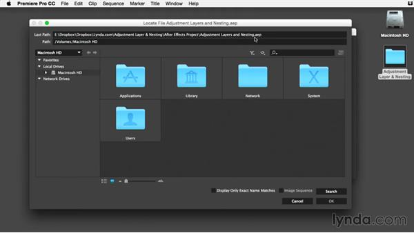 Using the exercise files: Premiere Pro Guru: Adjustment Layers and Nesting