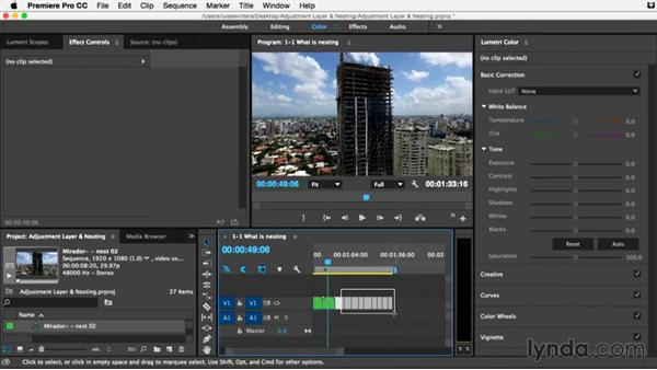 What is nesting and why should you nest?: Premiere Pro Guru: Adjustment Layers and Nesting
