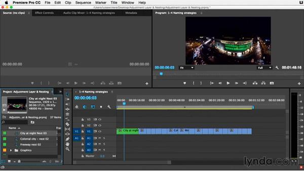 Naming strategies for nested sequences: Premiere Pro Guru: Adjustment Layers and Nesting