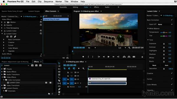 Masking your effect: Premiere Pro Guru: Adjustment Layers and Nesting