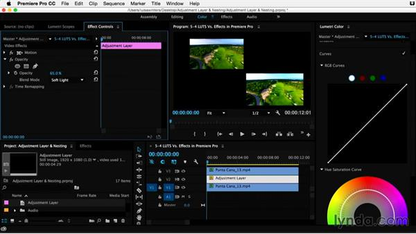LUTS vs. effects in Premiere Pro: Premiere Pro Guru: Adjustment Layers and Nesting