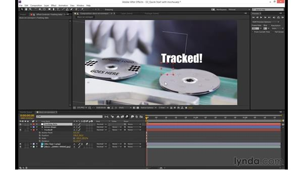 Using the data in After Effects: mocha 4 Essential Training