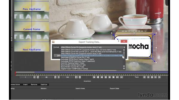 mocha v4 project setup and changes to the Clip module: mocha 4 Essential Training