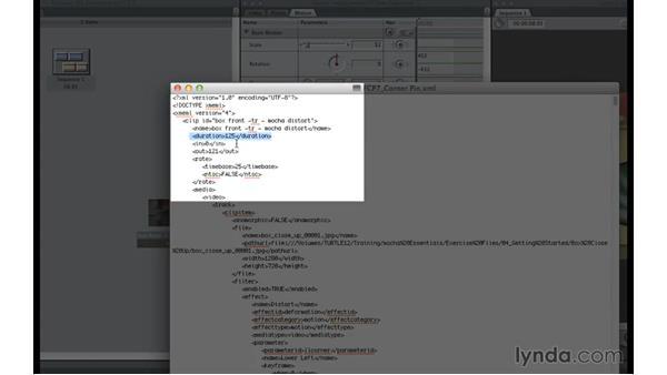 Exporting mocha data to Final Cut Pro 7: mocha 4 Essential Training