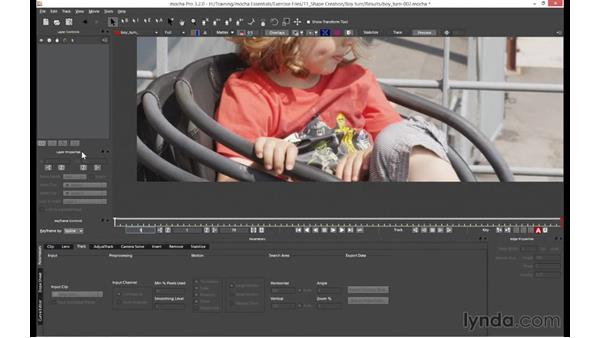 Setting up your layout for rotoscoping: mocha 4 Essential Training