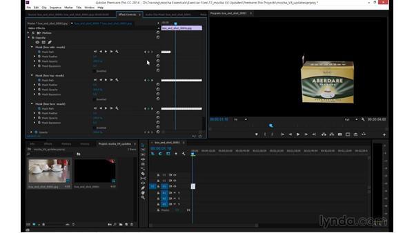 Exporting shape data to Premiere Pro CC 2014: mocha 4 Essential Training