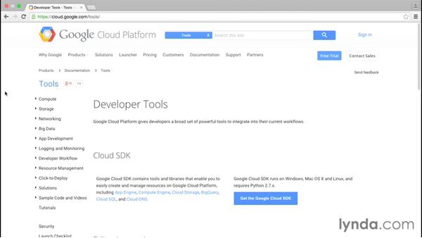 Finding helpful tools and libraries: Google Cloud Platform Essential Training