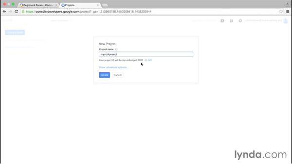 Working with location and projects: Google Cloud Platform Essential Training