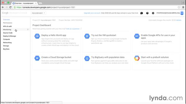 Enabling services and APIs: Google Cloud Platform Essential Training