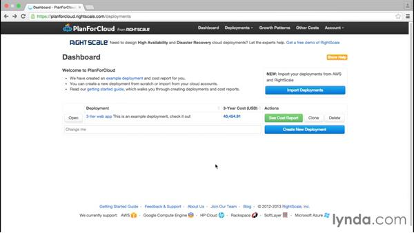 Planning for cloud deployments with PlanForCloud: Google Cloud Platform Essential Training