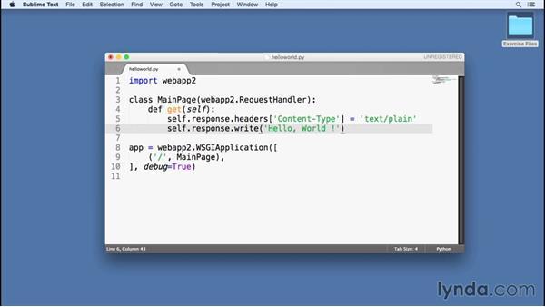 Using Sublime with Python: Google Cloud Platform Essential Training