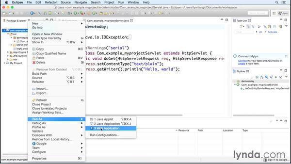 Using the Eclipse plugin with Java: Google Cloud Platform Essential Training