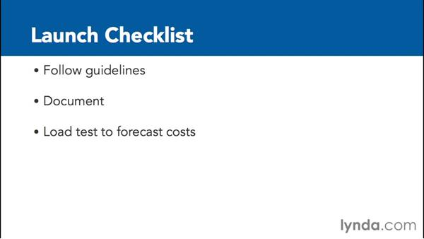 Reviewing your launch checklist: Google Cloud Platform Essential Training
