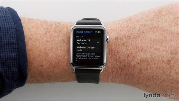 Changing how long the screen stays active: Apple watchOS 2 New Features