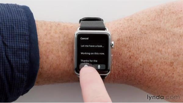 Replying to email messages using voice dictation: Apple watchOS 2 New Features