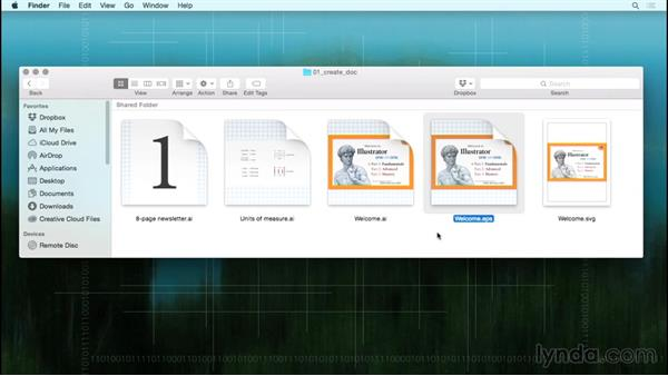 Opening from the Macintosh Finder: Illustrator CC 2015 One-on-One: Fundamentals