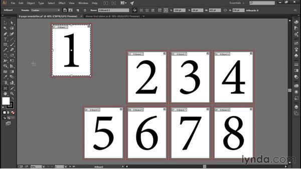 Using the Artboard tool: Illustrator CC 2015 One-on-One: Fundamentals