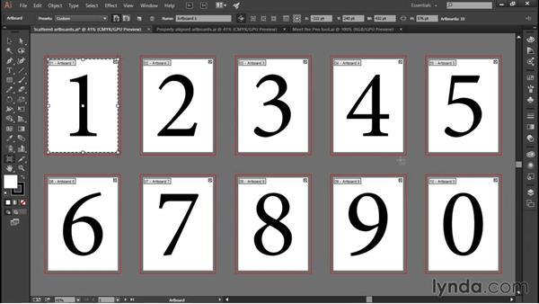 Autoarranging artboards: Illustrator CC 2015 One-on-One: Fundamentals