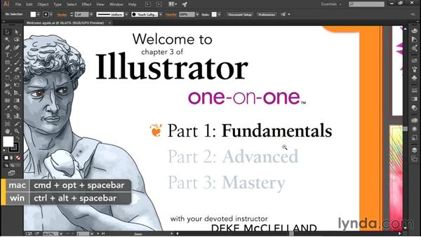 Animated zooming and GPU performance: Illustrator CC 2015 One-on-One: Fundamentals
