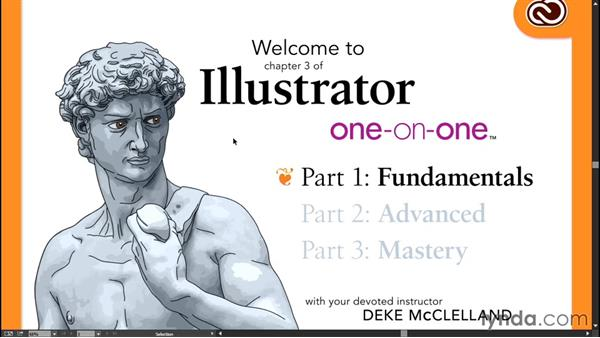 Cycling between screen modes: Illustrator CC 2015 One-on-One: Fundamentals