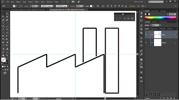 Joining your line segments: Illustrator CC 2015 One-on-One: Fundamentals