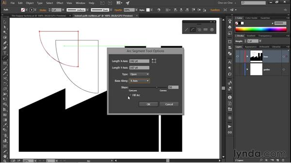 Using the Arc tool: Illustrator CC 2015 One-on-One: Fundamentals