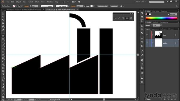 Using the Rectangular Grid tool: Illustrator CC 2015 One-on-One: Fundamentals