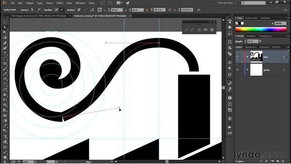 Adjusting the curvature of an arc: Illustrator CC 2015 One-on-One: Fundamentals