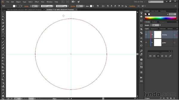 Using the Ellipse tool: Illustrator CC 2015 One-on-One: Fundamentals