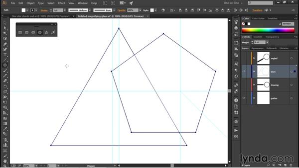 Using the Polygon and Star tools: Illustrator CC 2015 One-on-One: Fundamentals