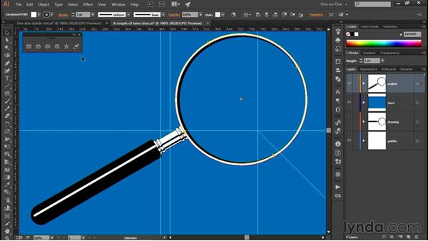 Creating the perfect 5-pointed star: Illustrator CC 2015 One-on-One: Fundamentals