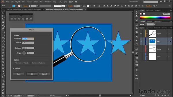 Repeating stars in alternating rows: Illustrator CC 2015 One-on-One: Fundamentals