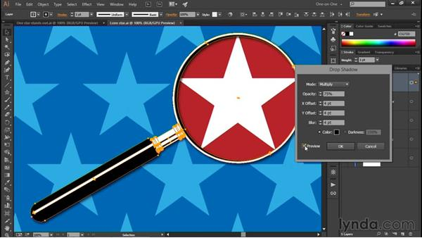 Adding a drop shadow to a layer: Illustrator CC 2015 One-on-One: Fundamentals
