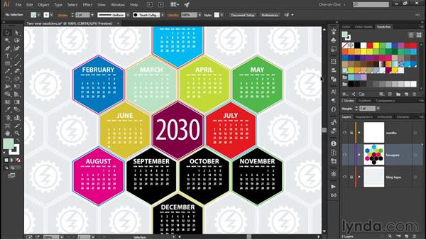 Working with global swatches: Illustrator CC 2015 One-on-One: Fundamentals