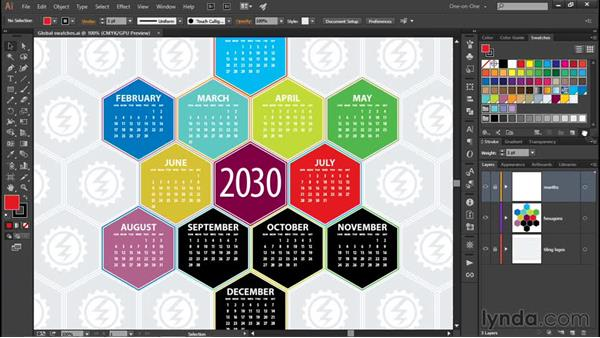 Auto-deleting and adding swatches: Illustrator CC 2015 One-on-One: Fundamentals