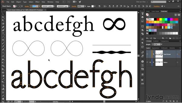Adjusting the line weight: Illustrator CC 2015 One-on-One: Fundamentals