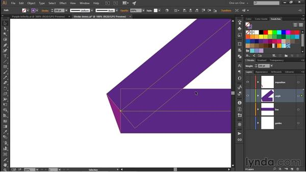 Caps, joins, and miter limit: Illustrator CC 2015 One-on-One: Fundamentals