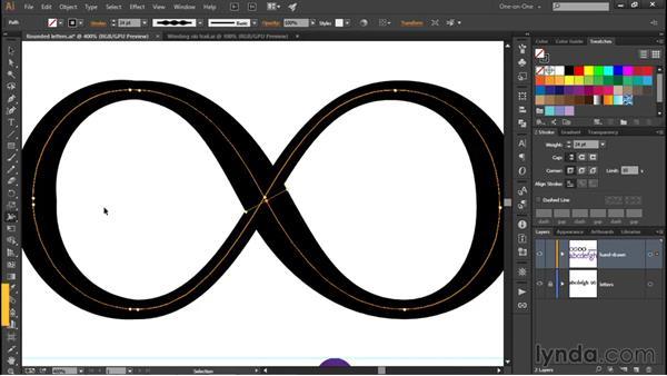 Creating a custom Width Profile: Illustrator CC 2015 One-on-One: Fundamentals