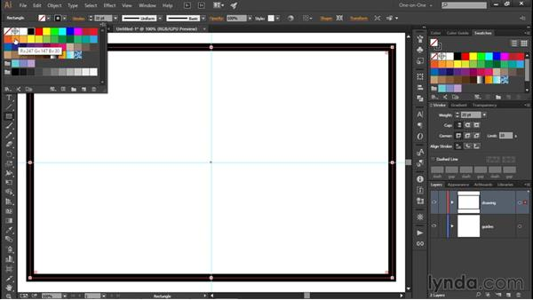 Creating a classic round-dotted outline: Illustrator CC 2015 One-on-One: Fundamentals