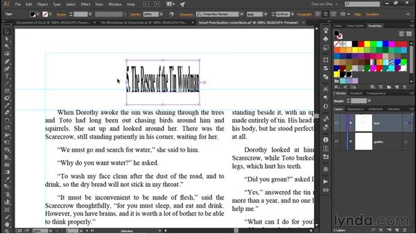 Working with point type: Illustrator CC 2015 One-on-One: Fundamentals